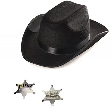 7374451a0 Funny Party Hats - Cowboy Hat - Kids Sheriff Costume with Toy Police ...