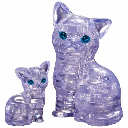 3D Crystal Puzzle, Cat with - 3d Puzzle Piece Tattoo