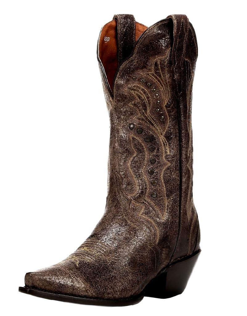 """Dan Post Western Boots Womens 12"""" Mad CAT Triad Studded Tan DP3446"""