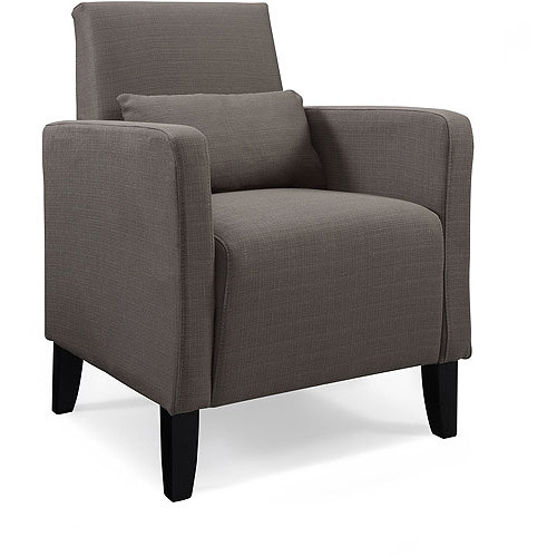 Flare Upholstered Accent Chair with Pillow, Multiple Colors