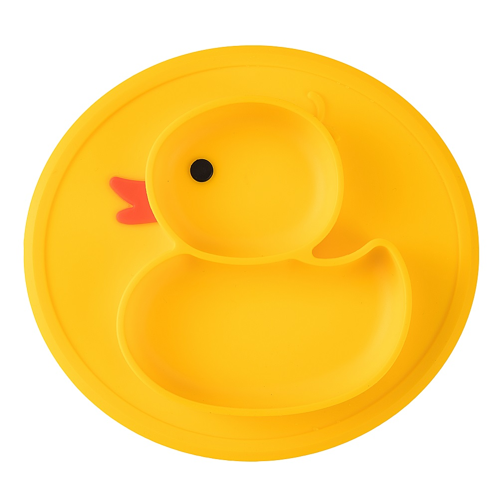 Silicone Suction Placemat Placement Mats for Babies Toddlers, BPA Free, Duck Shaped