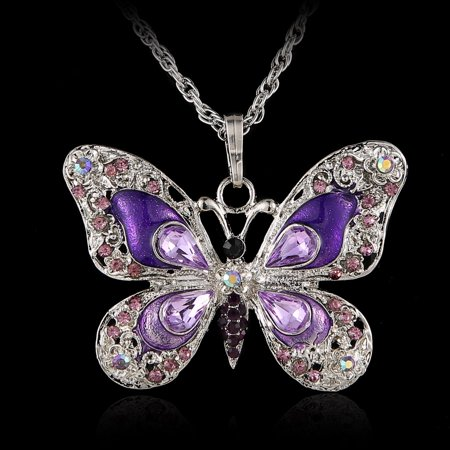 Fashion Beauty Butterfly Pendant Necklace Chain Jewelry Gifts