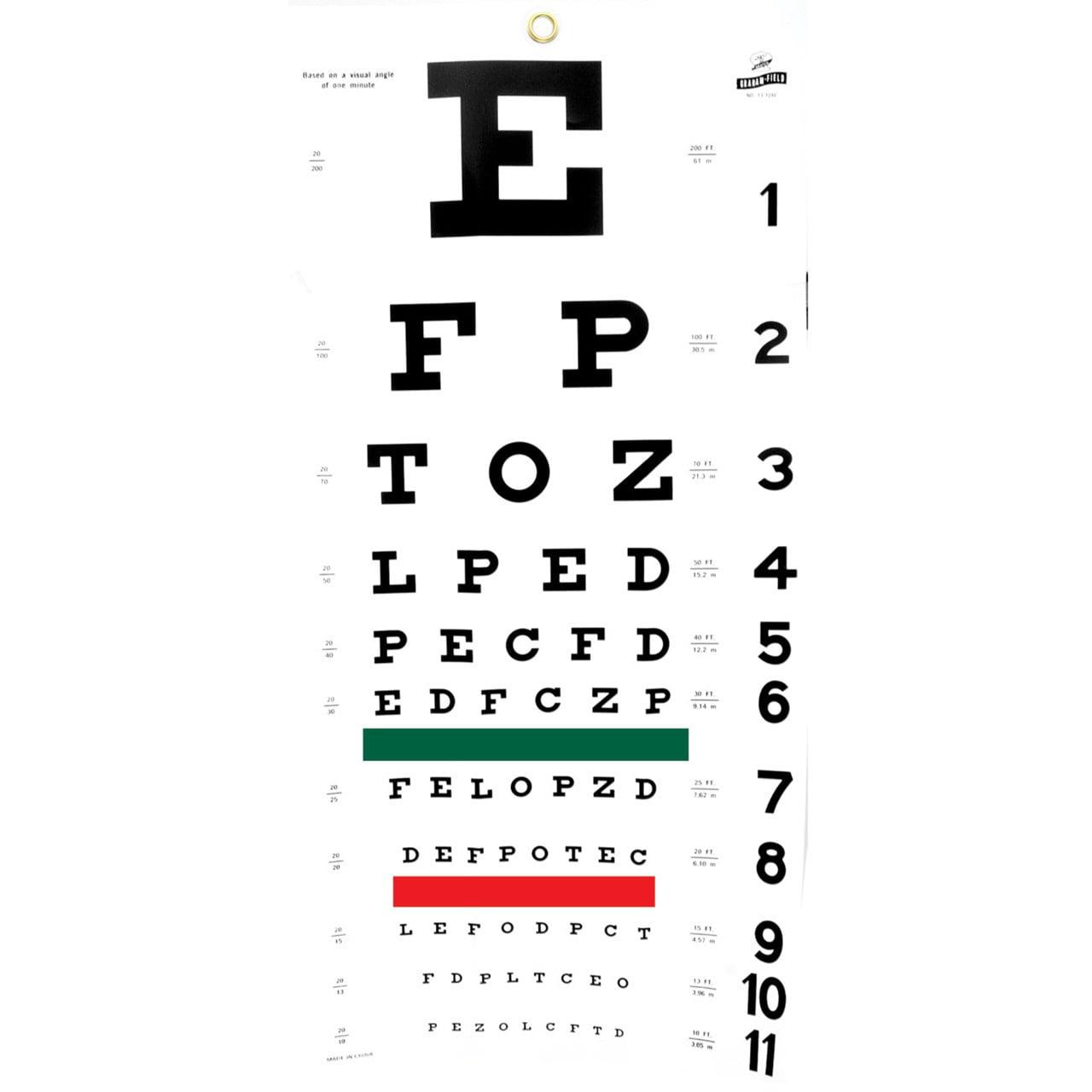 Snellen eye chart walmart geenschuldenfo Gallery