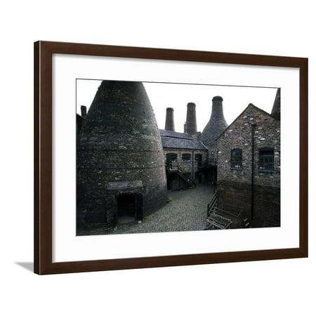 Kilns for Firing Ceramics, Gladstone Pottery (18th Century), Longton, England, United Kingdom Framed Print Wall (Haeger Potteries Carmel Ceramic)