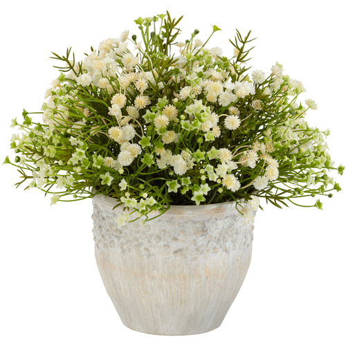 Nearly Natural Mixed Mini Indoor/Outdoor Daisy Silk Plant