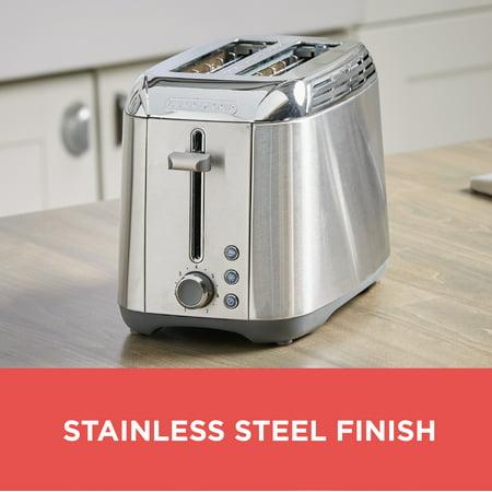 BLACK+DECKER Rapid Toast 2-Slice Toaster, Stainless Steel, TR3500SD