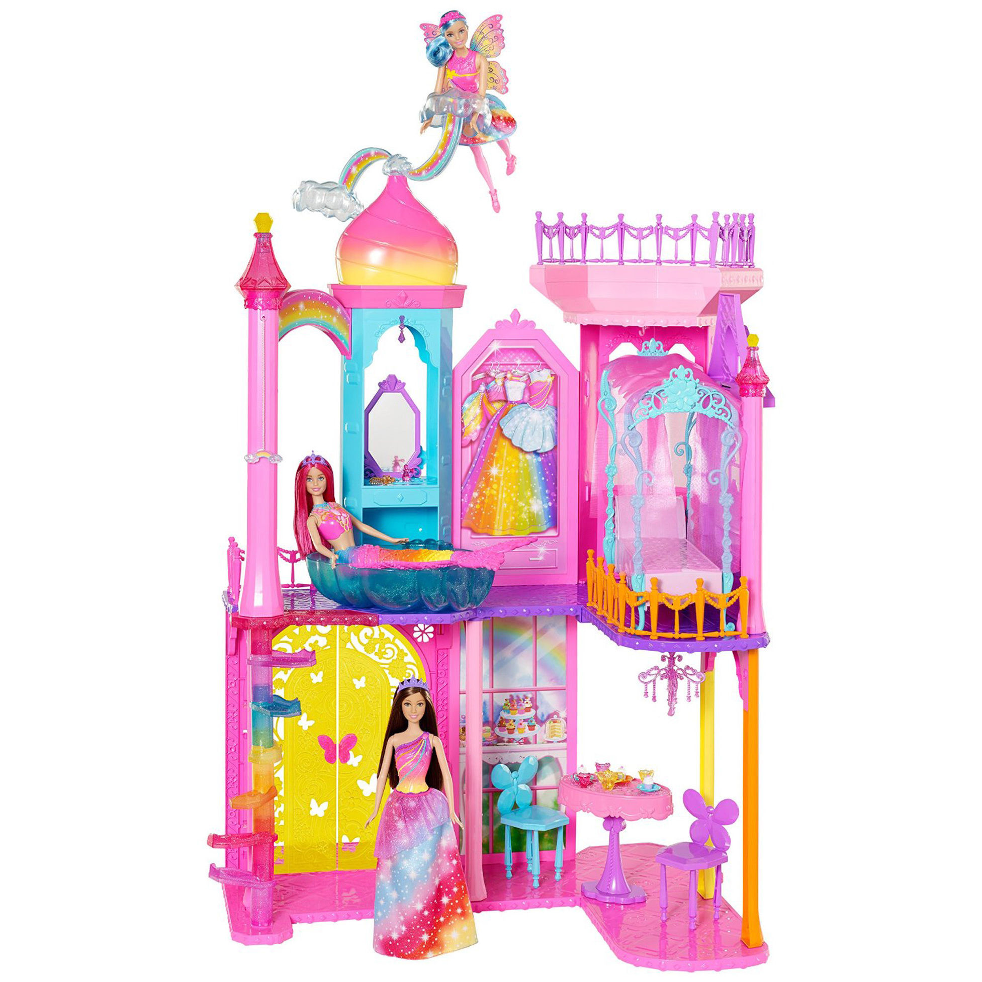barbie rainbow cove princess castle playset walmart com