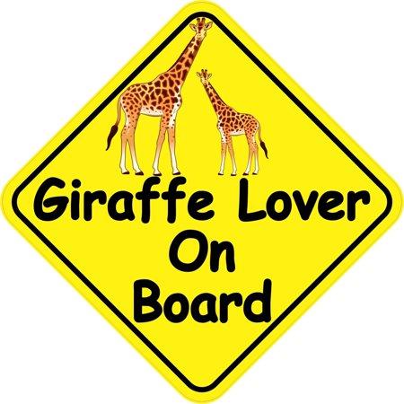 StickerTalk® Brand 6in x 6in Giraffe Lover On Board Animals Magnet Magnetic Vehicle Sign