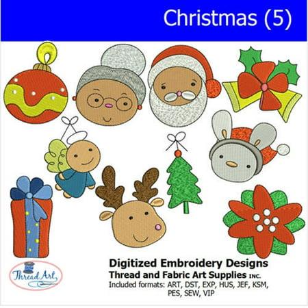 Threadart Machine Embroidery Designs Christmas(5) CD ()