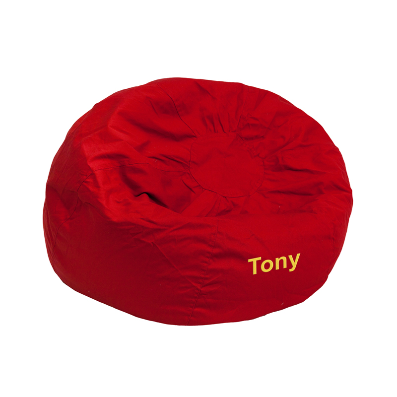 FLASH Furniture Personalized Small Solid Red Kids Bean Ba.