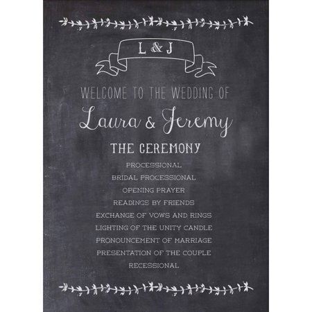 Rustic Romance Standard Program Card - Fan Wedding Programs
