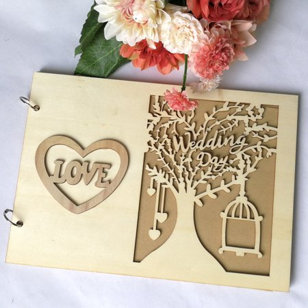 2 Types Photo Frame Album Tree Decor Personalized Wedding Guest Book Signature Book](Wedding Guest Tree)