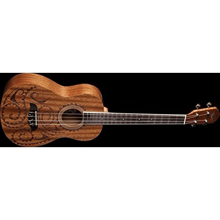 oscar schmidt ou52tat baritone mahogany ukulele satin finish hawaiian tattoo. Black Bedroom Furniture Sets. Home Design Ideas