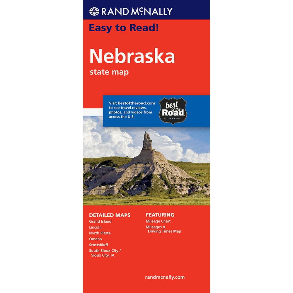 Easy To Read Nebraska State Map
