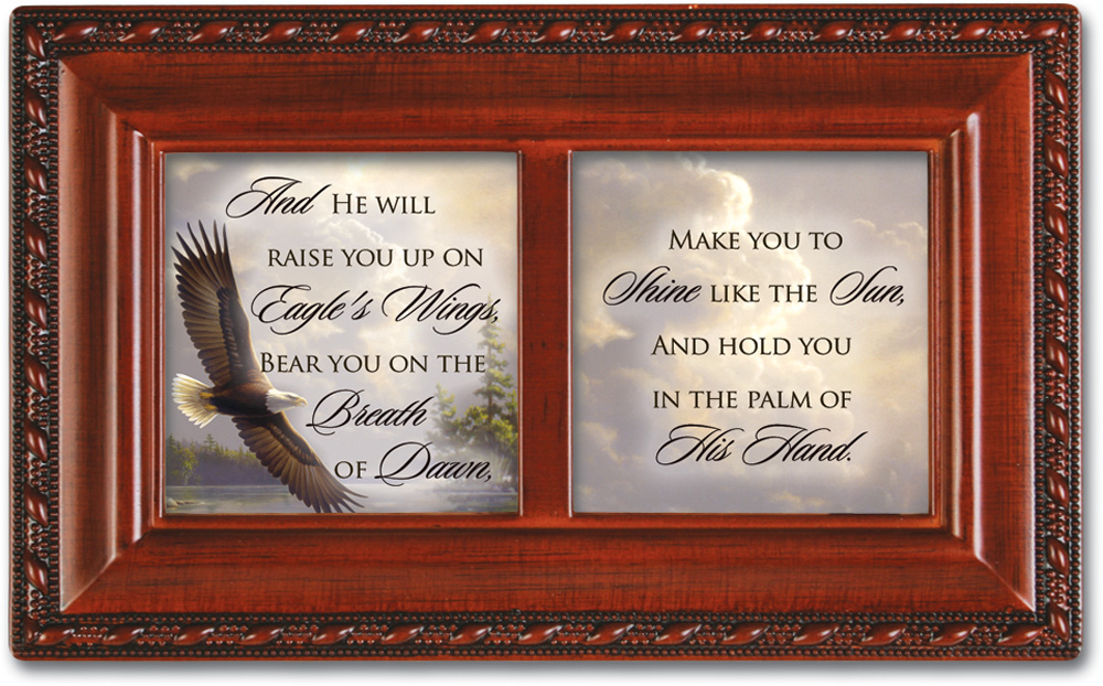 Breath Of Dawn Petite Woodgrain Music Box Plays On Eagle'S Wings by