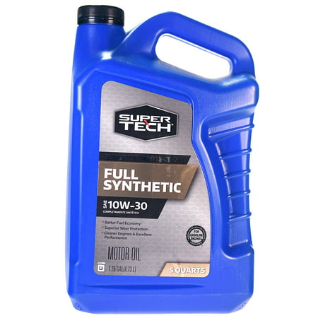 (3 Pack) Super Tech Full Synthetic Motor Oil SAE 10W-30, 5 quarts