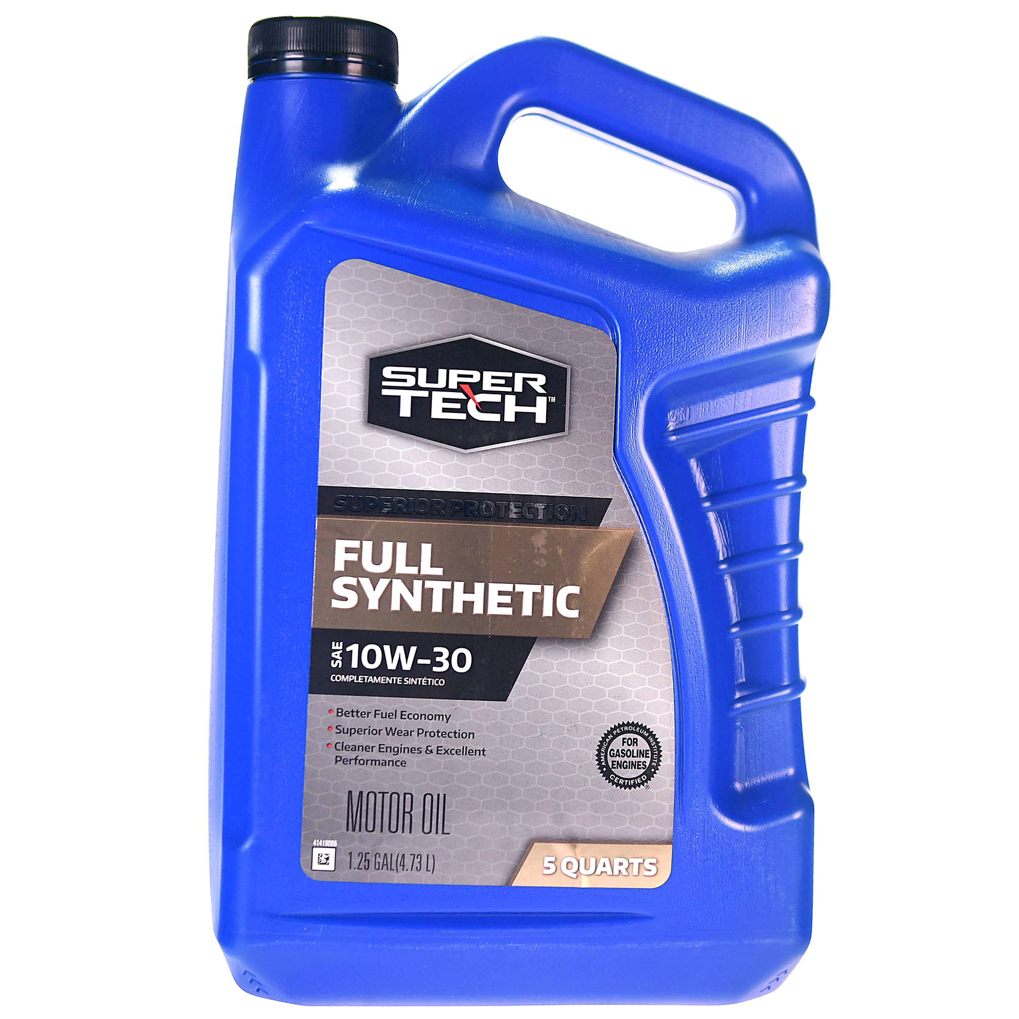 Super Tech Full Synthetic SAE 10W-30 Motor Oil, 5 Quarts