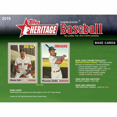 2019 Topps Heritage Retail Box Sealed (24 packs, 9 cards per pack)