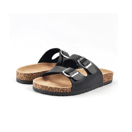 717ca6821576 Sandalup - NEW Slide Buckle T-Strap Cork Footbed Platform Sandals Shoes for  Summer   Fall