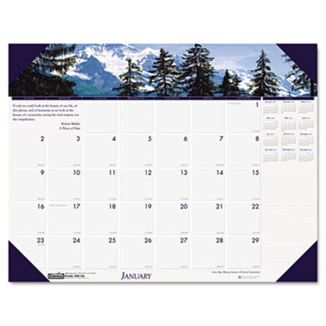 HOUSE OF DOOLITTLE Earthscapes Mountains of the World Monthly Desk Pad Calendar, 22 x 17, 2012 by HOUSE OF DOOLITTLE