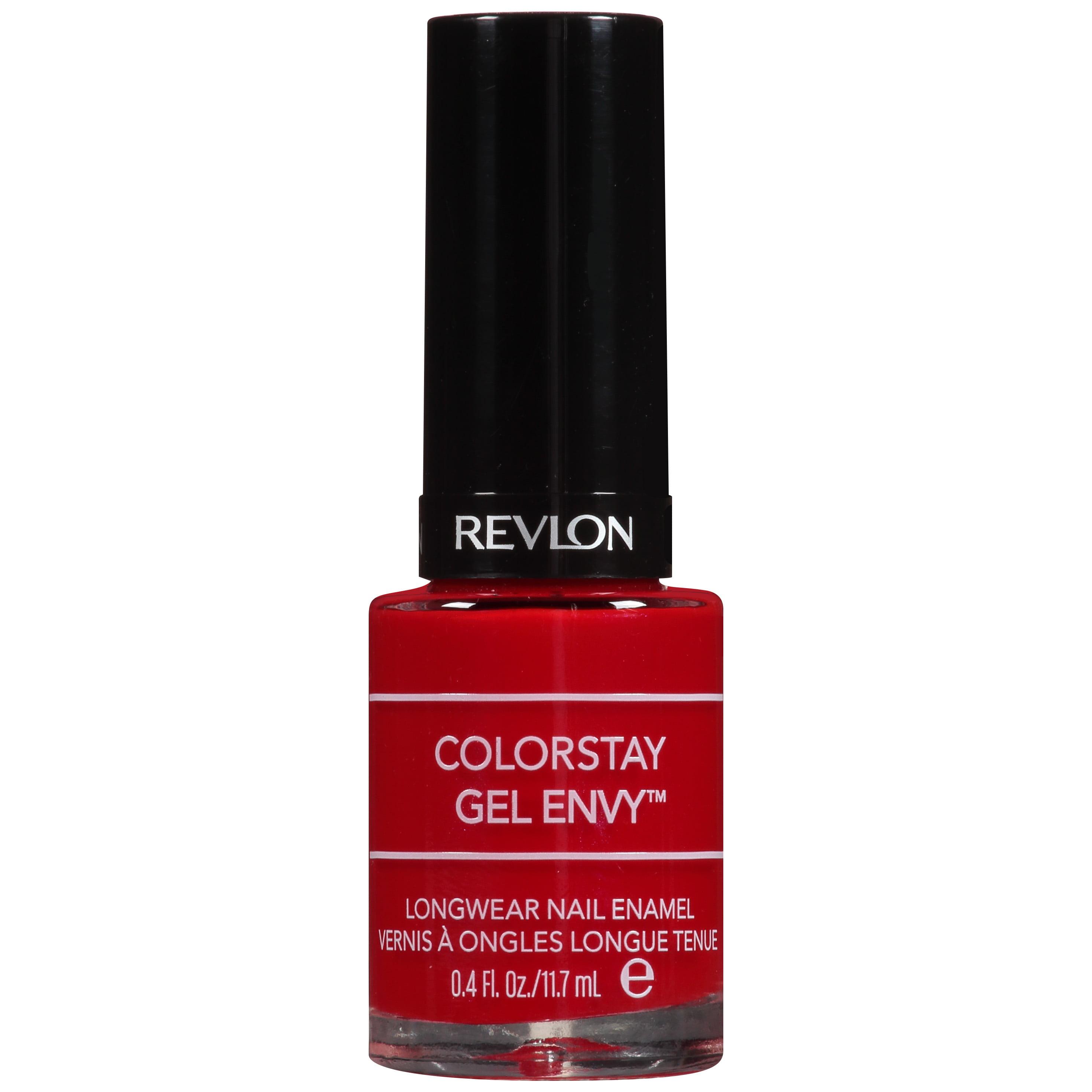 Revlon ColorStay Gel Envy Longwear Nail Enamel All on Red, 0.4 fl oz ...