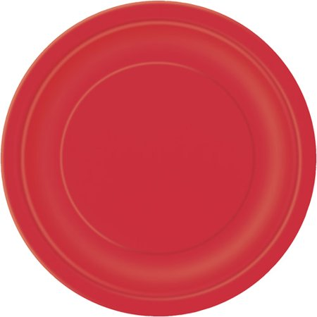 Ravishing Red Paper Dinner Plates, 9in, 20ct