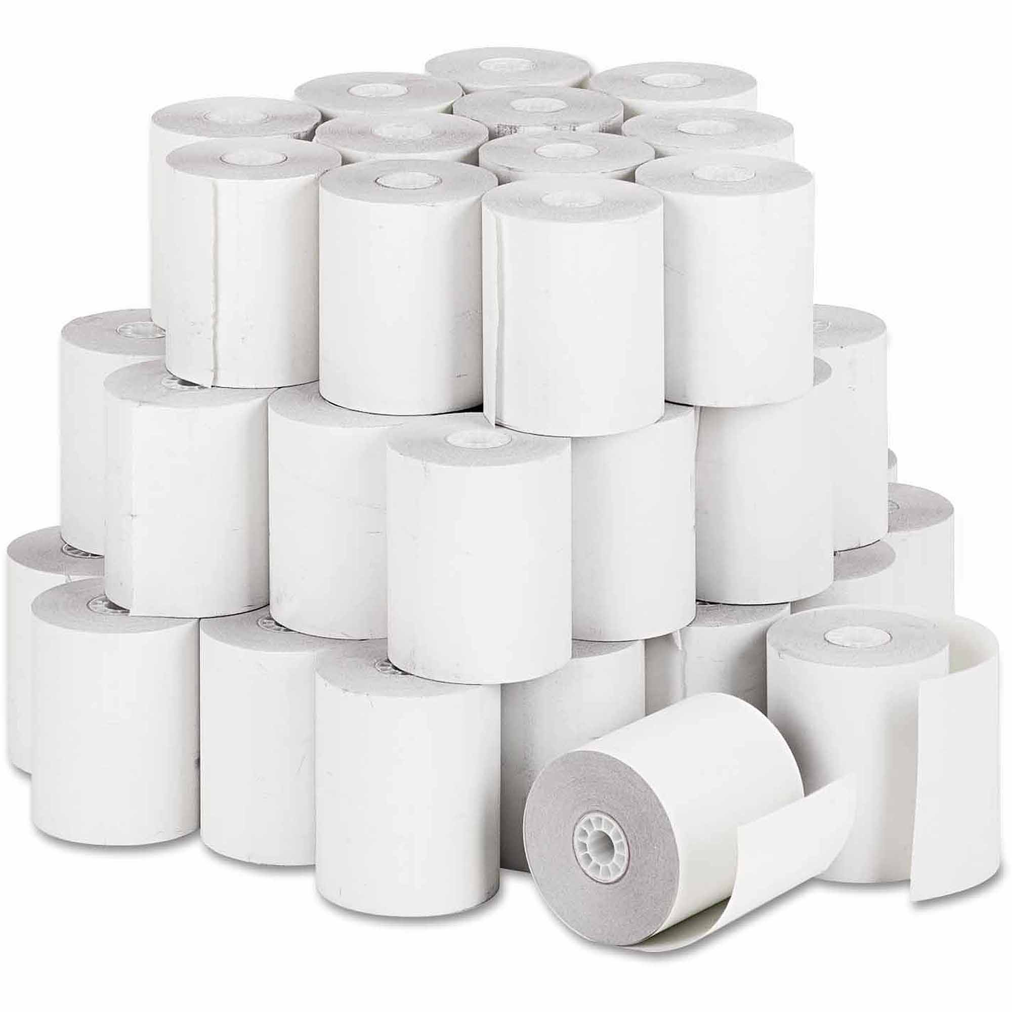 "Paper Rolls, Teller Window/Financial Roll, 3"" x 140 ft, White, 50/Carton"