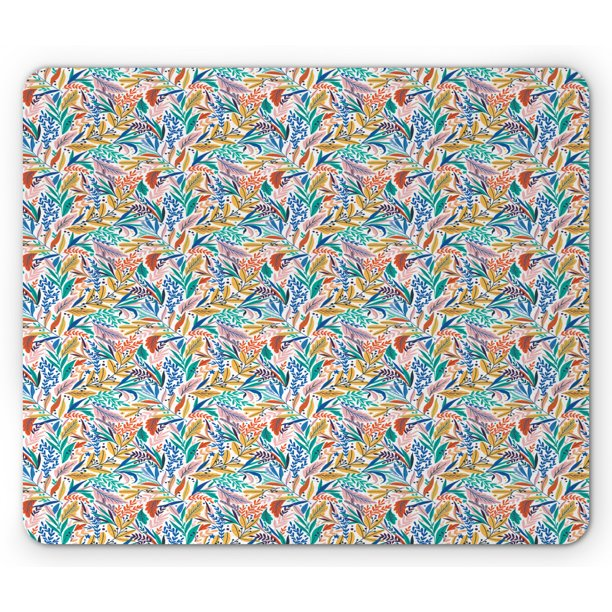 Colorful Mouse Pad Tropical Leaves In Doodle Style Summer Paradise Jungle Inspired Artwork With Dots Rectangle Non Slip Rubber Mousepad Multicolor By Ambesonne Walmart Com Walmart Com These 10 realistic hand drawn tropical leaves can be used on party invitations, as scrapbook and journal decorations or stickers. walmart com