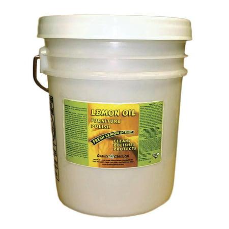 Lemon Oil Furniture Polish - Lemon oils, waxes,moisturizers - 5 gallon