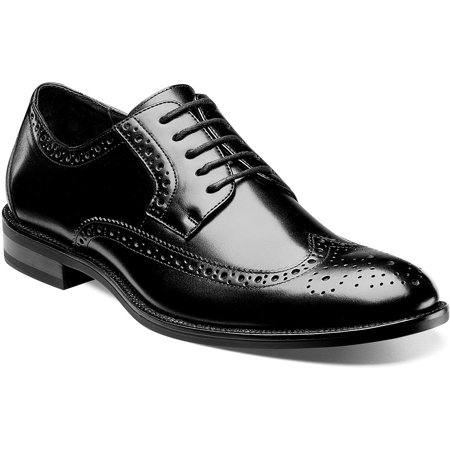 Stacy Adams Men's Garrison Wingtip Oxford Dress Shoes (Black/ Size 9) - Morticia Addams Dresses