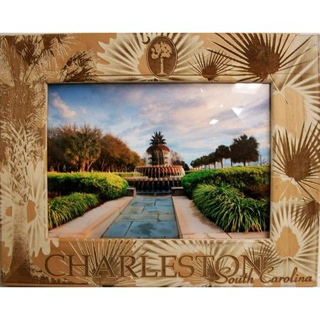 Charleston South Carolina Laser Engraved Wood Picture Frame (5 x 7) (Charleston Photo)