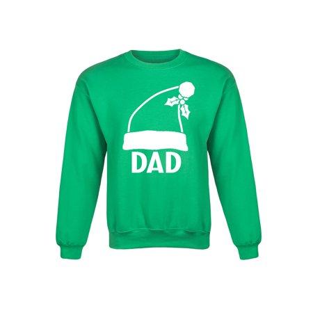 Instant Message - Dad Santa Hat - Christmas Couple Papa Adult Crew Fleece -  Walmart.com 7ff1d869ffc5