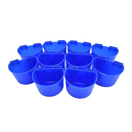 10 pcs Cup Hanging Water Feed Cage Cups for Poultry Gamefowl Rabbit Chicken Pigeons