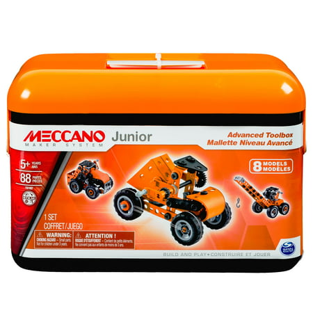 Meccano by Erector, Junior Advanced Toolbox, 8 Model Building Kit](Building Kits)