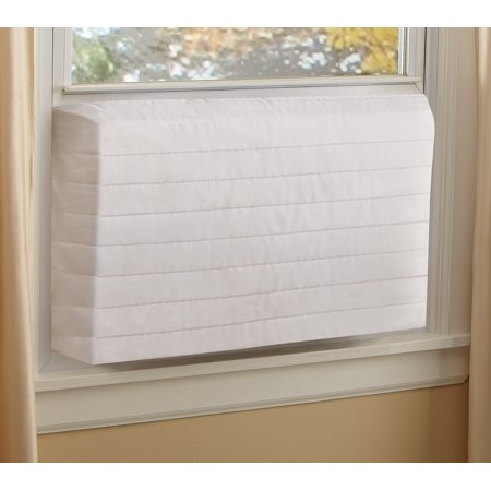 Indoor Quilted Window Air Conditioner Cover - Maintains Heat and Keeps Cold Air Out while Eliminating Dust Buildup,