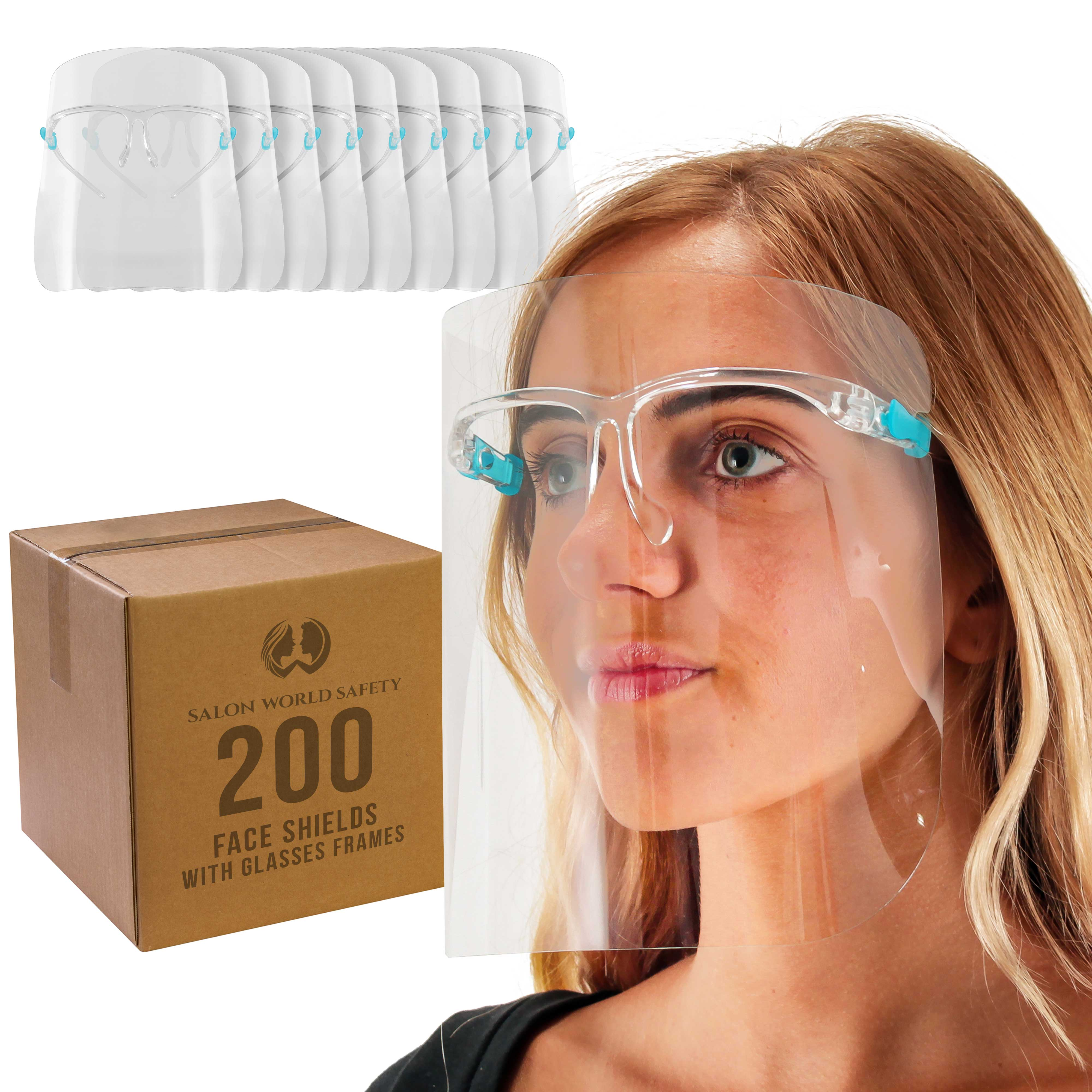 Premium 10 Pack Full Face Covering Anti-Fog Shield Clear Glasses Face Protector