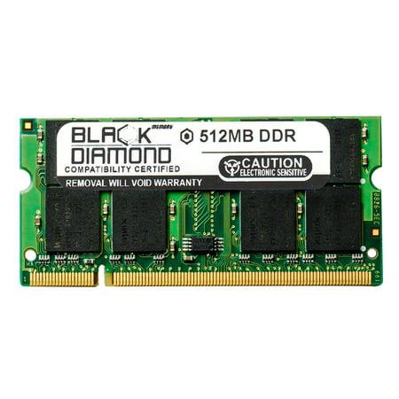 512MB RAM Memory for HP Pavilion Notebooks Dv2800t Artist Edition, Media Center Dv2125la Black Diamond Memory Module DDR SO-DIMM 200pin PC3200 400MHz Upgrade