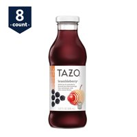 Tazo Brambleberry Iced Tea, 13.8 oz Glass Bottles, 8 Count