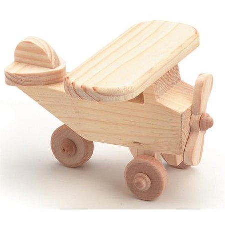 Wood Toy Kit 4-1-8 in. x 2-3-8 in. - Wood Airplane