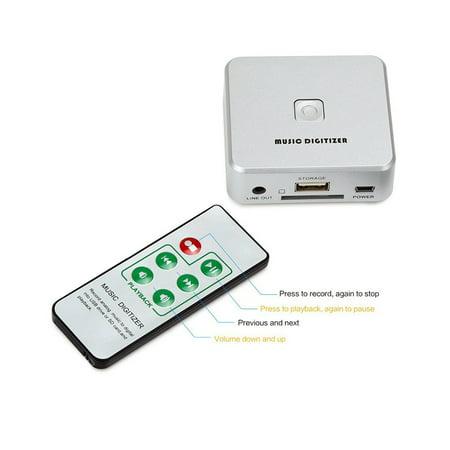 Analog Audio To MP3 Recorder Player W/IR Remote + USB Input + SD Card Slot
