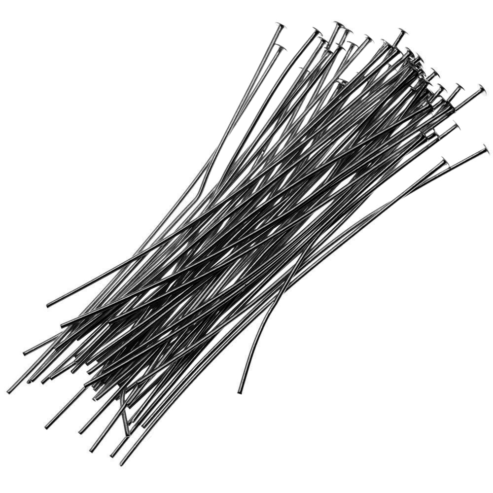 Gun Metal Head Pins 2 Inches 24 Gauge (50)