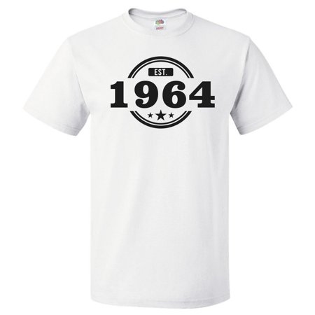 a60cbeb4 ShirtScope - 55th Birthday Gift For 55 Year Old Established 1964 T Shirt  Gift - Walmart.com