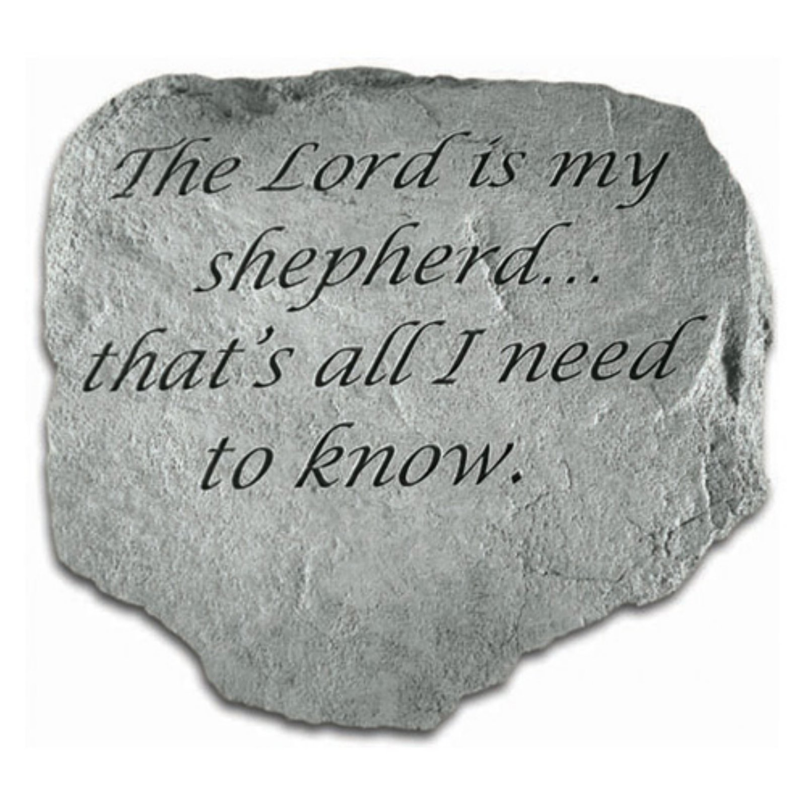 The Lord Is My Shepherd Garden Accent Stone