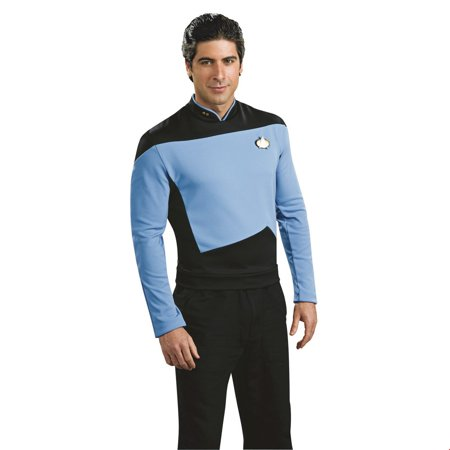 Star Trek Mens Deluxe Science Uniform Halloween Costume - Girl Scout Uniform Costume