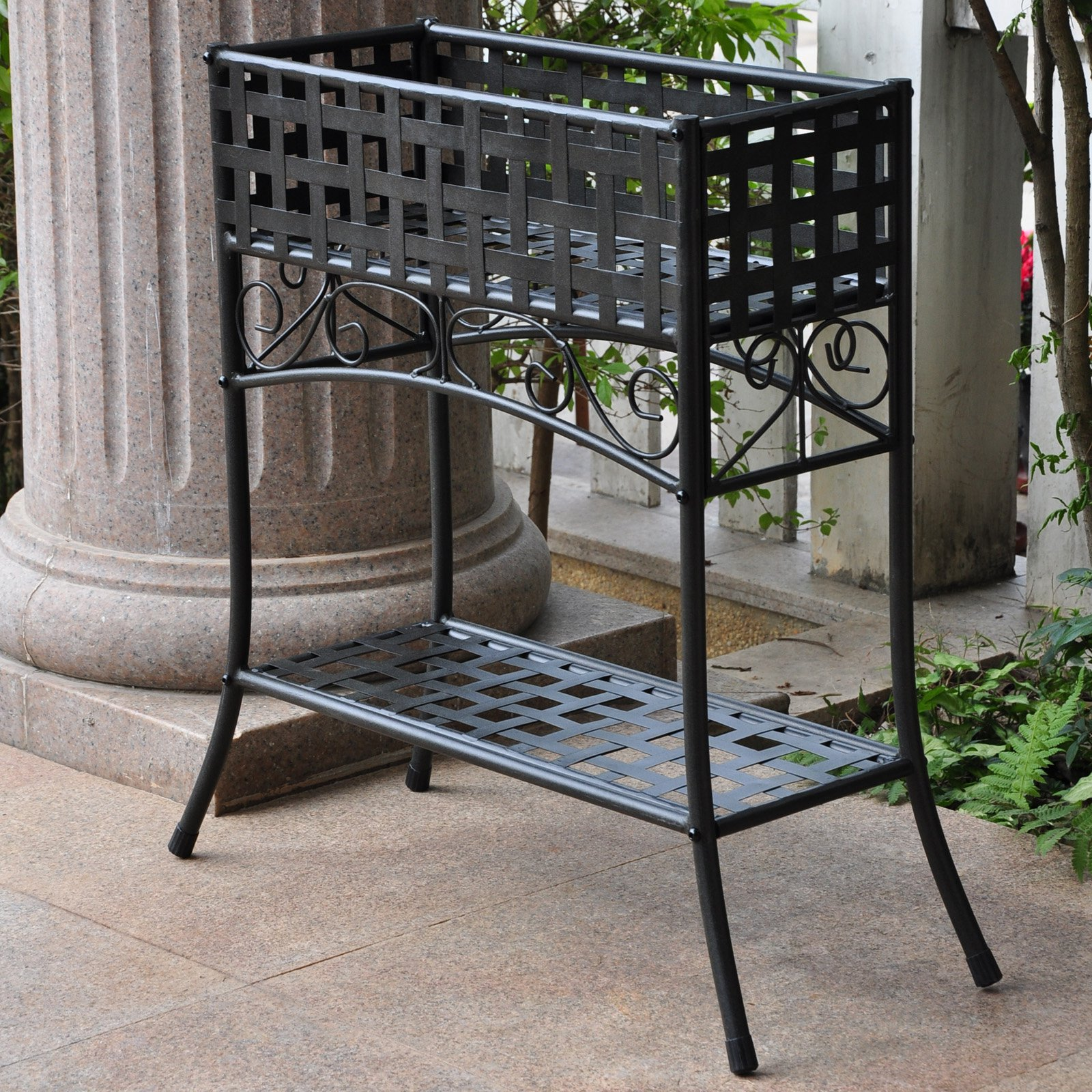 International Caravan Galleria Outdoor Plant Stand Walmart Com