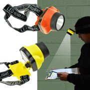 2 Adjustable Angle 1/2 Watt LED Headlamps flashlight Hands Free Helmet Light FL8215