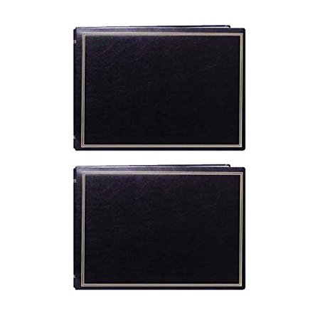 Pioneer Jumbo Magnetic Page X Pando Photo Album Black 2 Pack