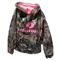 Mossy Oak Girls Camo Pullover Hoodie Sweatshirt Embroidered Logo Small