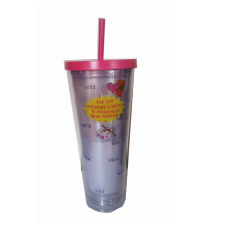 Starbucks Venti Personalize Your Cup 2017 Cold Cup Tumbler 24Oz Pink With Stickers - Starbucks Halloween Tumblers