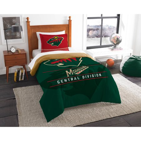 Minnesota Wild The Northwest Company NHL Draft Twin Comforter Set - Minnesota Wild Set